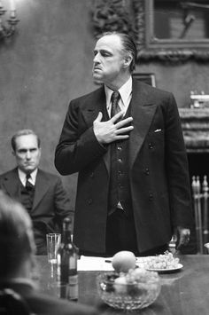 Marlon Brando - 'The Godfather', 1972, directed by Francis Ford Coppola.