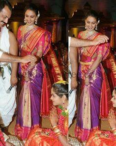 Purple Shimmer Silk Sari | Saree Blouse Patterns