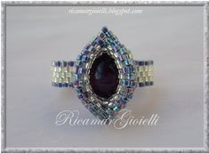Double oval peyote with pearl cat eyes - Ricamar Jewels