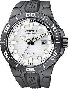 Citizen Eco-Drive Scuba Fin Dive Black IP WR 200m Men's Watch BN0095-08A