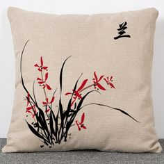 Industrious High Quality Creative Fashion Color Bird Houseware Floral Throw Pillow Case Chair Cushion Cover Almofadas Cotton Linen Square A Complete Range Of Specifications Table & Sofa Linens