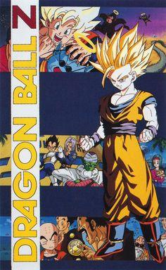 """80s90sdragonballart: """"artbookisland:"""" Digitalizar a partir de """"Dragon Ball Anime Coleção Ilustração: O Guerreiro Dourado"""".  Clique na imagem para a digitalização de um pouco maior.  """"Larger versão, mais nítida desta imagem,"""" Eu amo o olhar de Gohan sobre isso!"""