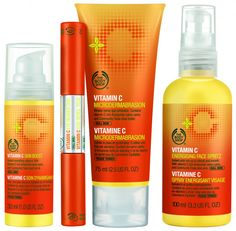 The Bodyshop Vitamin C Skin care line <3 AMAZING!
