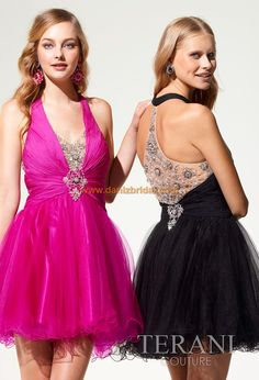 A-Line/Princess Halter Short/Mini Chiffon Tulle Prom Dress With Ruffle Beading Appliques Lace Prom Dress 2013, Cheap Homecoming Dresses, Prom Dress Shopping, Tulle Prom Dress, Dresses 2013, Prom Gowns, Dresses Short, Dressy Dresses, Junior Dresses