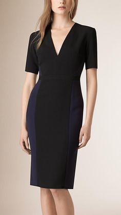 Navy Panelled Shift Dress - love this dress