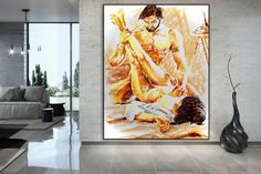Nude art canvas painting above bed decor anniversary gift image 0 Abstract Wall Art, Canvas Wall Art, Original Paintings, Original Art, Modern Oil Painting, Colorful Artwork, Extra Large Wall Art, Texture Art, Acrylic Painting Canvas