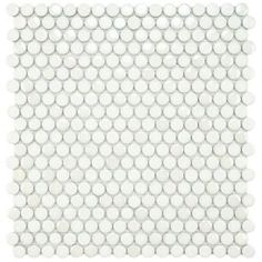 Cosmo Penny Round White 11-1/4 in. x 12 in. Porcelain Wall Tile-FSHCPRWH at The Home Depot