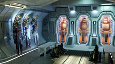 Those bays would look great in my living room... (inside of ship, from Prometheus)