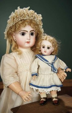 French Bisque Bebe Jumeau, Size 10, with Original Signed Wig and Shoes 3000/4000