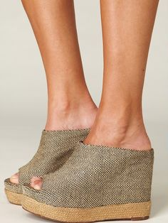 Not sure id wear these but i love em!  Free People Amanda Mule Wedge