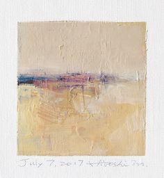 "July 7, 2017 9 cm x 9 cm (app. 4"" x 4"") oil on canvas © 2017 Hiroshi Matsumoto"