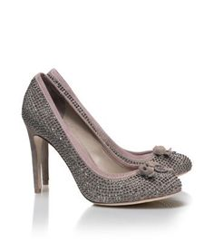 Phoenix Pump by ToryBurch soft suede with pave crystals