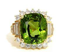 Gorgeous pridot & diamond ring