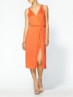 deb2f3fb8 BCBGMAXAZRIA V-Neck Cotton Dress