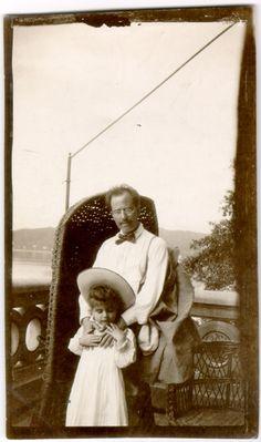 Mahler et sa fille Maria en 1905