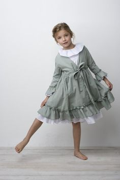 Cute girl's nightgown and robe