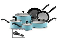 Turquoise Pots and Pans :)