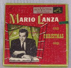 Mario Lanza Sings Christmas Songs 4 Record Box Set RCA 45 RPM WDM1649 Red Vinyl #Christmas