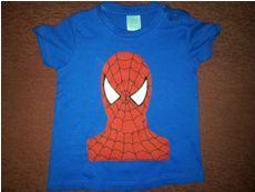 Camiseta Patchwork Aplicación Spiderman