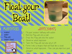 The Science Penguin: Float Your Boat! {A Buoyancy and Density Lab}