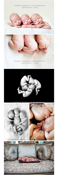 Newborn Triplets ~ Chicago Newborn Multiples Photographer