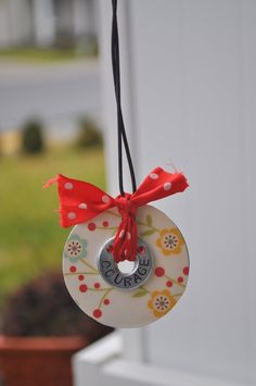 Covered washer necklace