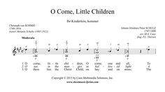 O Come, Little Children - Guitar Little Children, Sheet Music, Math, Christmas, Guitar, Kids, Mathematics, Yule, Toddlers