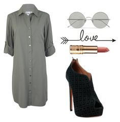 """""""Untitled #9"""" by alexandra-futc ❤ liked on Polyvore featuring Sunday Somewhere and Alaïa"""