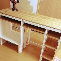 My Shelf/DIY/キッチンカウンター/賃貸/DIY初心者/SPF材...などのインテリア実例 - 2014-08-18 04:39:07 | RoomClip (ルームクリップ)