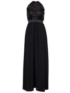 Sequin Pocket Gown
