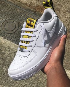 NWOT RARE custom nike air force 1 off-white belt Off White Belt, Off White Shoes, White Nike Shoes, White Nikes, White Sneakers, Custom Sneakers, Custom Shoes, Sneakers Fashion, Fashion Shoes