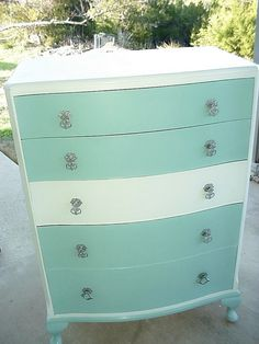 Tiffany Blue & White Dresser