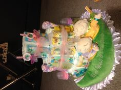 Made this diaper cake for twin girls