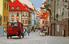 "visitheworld: "" Street scene in Bratislava, Slovakia (by tara moayed). Around The World In 80 Days, Places Around The World, Oh The Places You'll Go, Places To Travel, Places To Visit, Around The Worlds, Montenegro, Bósnia E Herzegovina, Bratislava Slovakia"