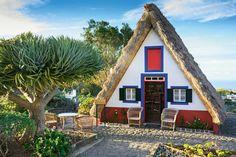typical House of Santana - Madeira island, Portugal