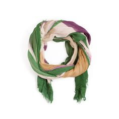 Sophie Green Scarf!     $25 at Bold Gemz! The colorblock trend promises to be hot into the new year. This cotton scarf has beautiful purple, green and tan concentric squares. Take it with you for your island vacation!