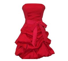 A-line Strapless Sleeveless Short / Mini Taffeta Bridesmaid Dress With Sashes Free Shipping. $97.00, via Etsy.