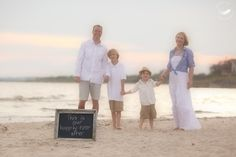 Chalkboard Sign at Family Beach Photo Session -Michele Kats Photography