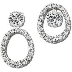 Beautiful Oval Convertible Earring Jackets Compliment The Shape Of Your Ear With 36 Graduated Round Brilliant Diamond Studsdiamond
