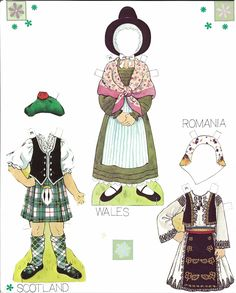 Miss Missy Paper Dolls: Traditional Folk Costumes of Europe Paper Toys, Paper Crafts, Foam Crafts, Diy Paper, Paper Art, Folk Costume, Costumes, Missing Missy, World Thinking Day