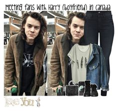 """Meeting fans with Harry (boyfriend) in Canada"" by giovannacarlamalik ❤ liked on Polyvore featuring Mother, NARS Cosmetics, Julie Fagerholt Heartmade, With Love From CA, Balenciaga, Zara and Disney"