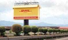 They have put the bill board into a box as that is what the DHL do