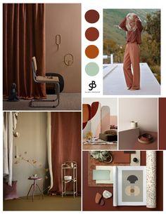 Colorful interiors - Interior color trend New Reds will shape 2020 – Colorful interiors Interior Design Color Schemes, Interior Desing, Color Interior, Moodboard Interior Design, Interior Design Boards, Interior Plants, Color Trends, Design Trends, Mood Board Interior