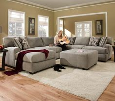 Sectional Sofa with 5+ Seats (1 is a Chaise)