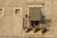balcone della villa delle tortore in Sicilia