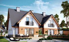DOM.PL™ - Projekt domu AC Sambor G2 (dwulokalowy) - DOM AF8-31 - gotowy projekt domu