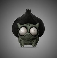 tim burton style pokemon made in zbrush