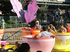 Disneyland tips and tricks. The purple teacup spins fastest :)