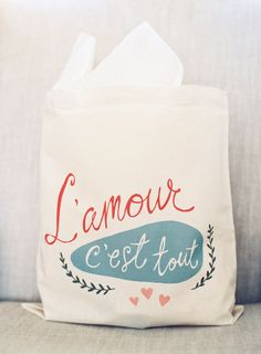 French-inspired welcome bag: http://www.stylemepretty.com/2016/03/10/blackberry-farm-winter-wedding/ | Photography: Natalie Watson - http://nataliewatsonphotography.com/