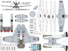 4D model template of North American P-51D Mustang Big Beautiful Doll. #4dpa #p51mustang